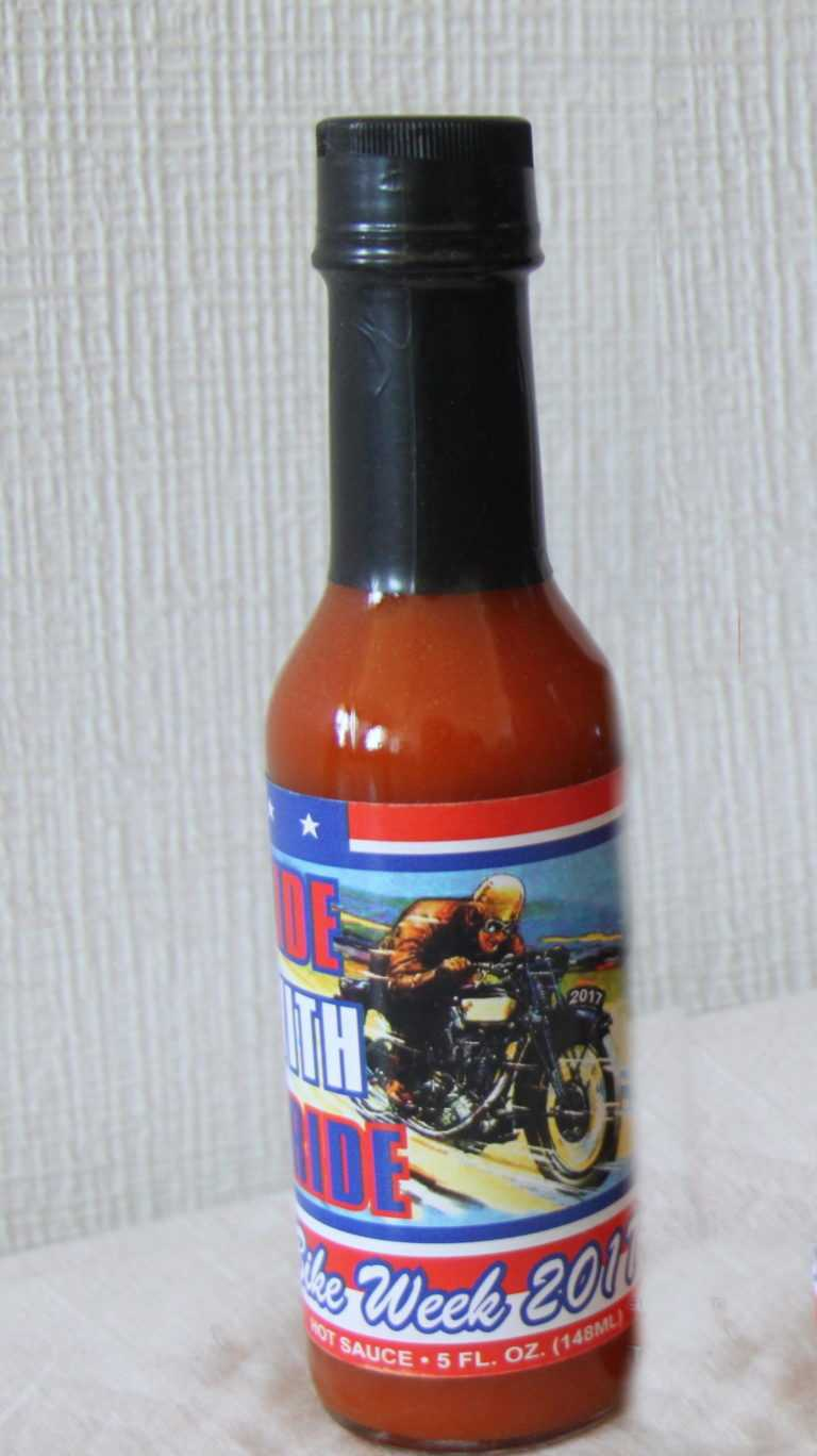 RIDE WITH PRIDE hot sauce