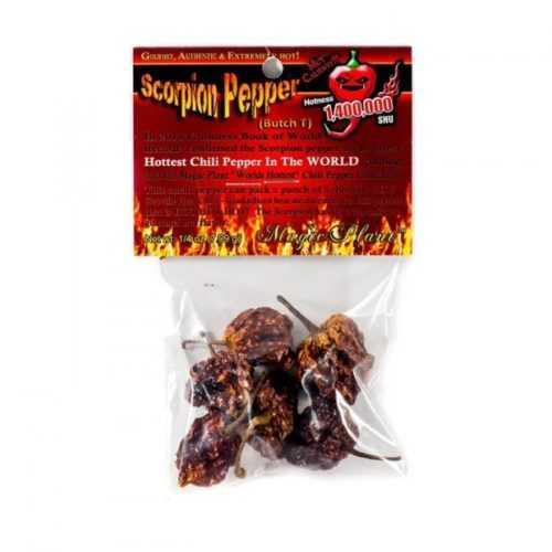 Dried Scorpion Pepper Pods / Стручки перца Скорпион целые сушенные