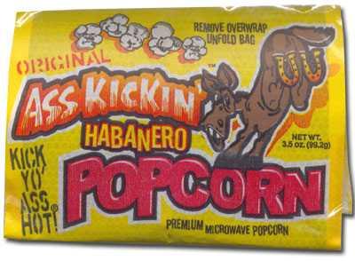 Острый попкорн Ass Kickin' Habanero Microwave Popcorn